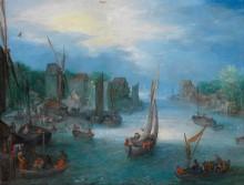 Речной пейзаж с лодками - Брейгель, Ян (младший)