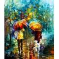 Прогулка с собаками под дождем - Афремов, Леонид (20 век)