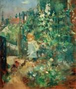 Ребенок в розовом саду - Моризо, Берта