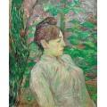 Женщина в саду - Тулуз-Лотрек, Анри де