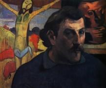 Автопортрет с желтым Христом, 1889 - Гоген, Поль