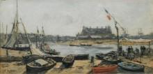Трувиль, вид на пристань, 1872 - Буден, Эжен
