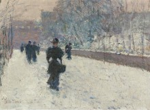 Променад, зима в Нью-Йорке, 1895 - Хассам, Фредерик Чайлд