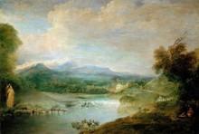 Пасторальный пейзаж - Ватто, Жан Антуан