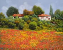 Маковое поле, лето - Борелли, Гвидо (20 век)