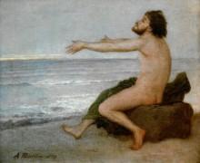 Одиссей на берегу моря - Бёклин, Арнольд