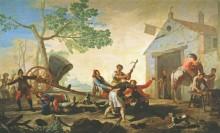 Драка, 1777 - Гойя, Франсиско Хосе де