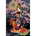 Цветущая сакура ночью