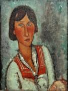Молодая женщина с матросским воротником - Модильяни, Амадео