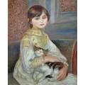 Портрет Жюли Мане (Девочка с кошкой) - Ренуар, Пьер Огюст