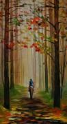 Осенняя прогулка на лошади - Афремов, Леонид (20 век)