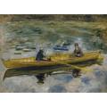 Клод Моне и мадам Анрио в лодке, 1880 - Ренуар, Пьер Огюст