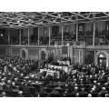 Президент  Рузвельт на конгрессе после Ялтинской конференции