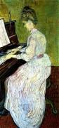 Маргарита Гаше у фортепиано (Marguerite Gachet at the Piano), 1890 - Гог, Винсент ван