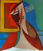 Бюст женщины и автопортрет, 1929 - Пикассо, Пабло