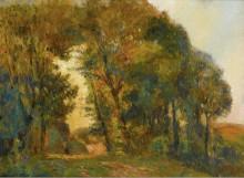Деревья во время заката - Лебург, Альберт