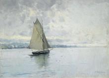 Морской пейзаж с лодкой - Мейфрен, Элисио