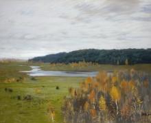 Долина реки. Осень (Долина реки осенью). 1896 - Левитан, Исаак Ильич