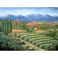 Тоскана, деревня и виноградники