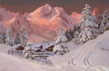 Альпы, освещенные солнцем - Арнеггер, Алоис
