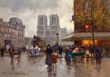 Собор Парижской Богоматери, площадь Сен-Мишель - Кортес, Эдуард