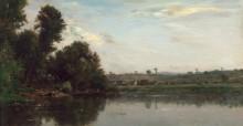 Прачки на берегу Уазы близ Вальмондуа - Добиньи, Шарль-Франсуа