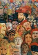 Энсор в окружении масок, 1899 - Энсор, Джеймс