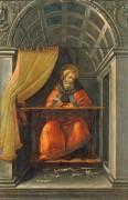 Святой Августин в келье - Боттичелли, Сандро