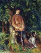 Альфред Берар со своей собакой - Ренуар, Пьер Огюст