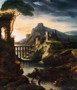 Вечер, пейзаж с акведуком - Жерико, Теодор Жан Луи Андре