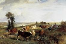 Пейзаж со стадом в Сюрене - Труайон, Констан