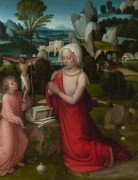 Мария Магдалина на фоне пейзажа - Изенбрант, Адриан