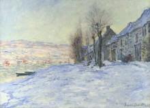 Лавакорт под снегом - Моне, Клод
