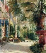 Интерьер пальмового дома - Блехен, Карл