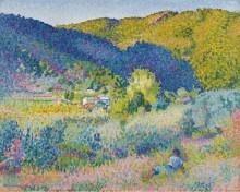 Пейзаж с горным хребтом, 1904 - Кросс, Анри Эдмон