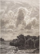Облака над рощей (офорт), 1878 - Шишкин, Иван Иванович