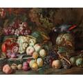 Натюрморт с фруктами и попугаем - Брейгель, Абрахам