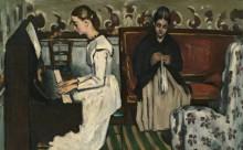 Девушка у пианино. Увертюра к Тангейзеру - Сезанн, Поль