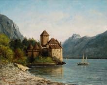 Замок Шильон на берегу Женевского озера - Курбе, Гюстав