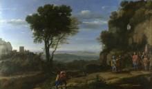 Пейзаж с Давидом в пещере Одоллам - Лоррен, Клод (Желле)