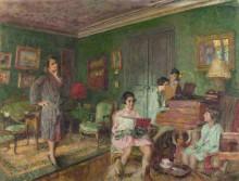 Мадам Андре Уормсер и ее дети - Вюйар, Жан - Эдуард