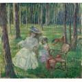 Мать и дочь в парке, 1905 - Лебаск, Анри