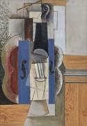 Скрипка, висящая на стене - Пикассо, Пабло