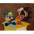 Натюрморт: ваза с фруктами и кувшин - Пикассо, Пабло