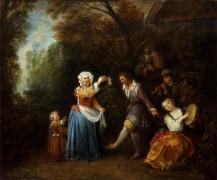 Сельский танец - Ватто, Жан Антуан