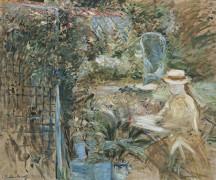 Девочка в саду - Моризо, Берта