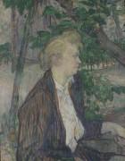 Женщина, сидящая в саду - Тулуз-Лотрек, Анри де