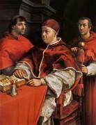 Портрет папы Льва Х с двумя кардиналами - Рафаэль, Санти