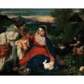 Мадонна с кроликом - Тициан Вечеллио
