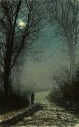 Влюбленные на дороге, залитой лунным светом - Гримшоу, Джон Аткинсон